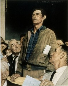 Freedom of Speech by Norman Rockwell [Public domain], via Wikimedia Commons
