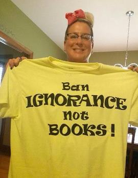 Ban Ignorance Not Books Tshirt