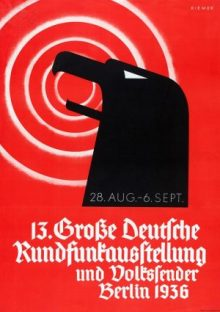 German Poster announcing a radio broadcasting exhibition Berlin, August-September 1936. Nazi era.. Photography. Britannica ImageQuest, Encyclopædia Britannica, 25 May 2016. quest.eb.com/search/300_2292426/1/300_2292426/cite.