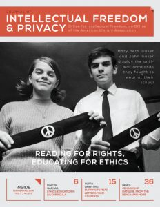 Cover of Vol. 1, No. 2-3 of the Journal of Intellectual Freedom and Privacy