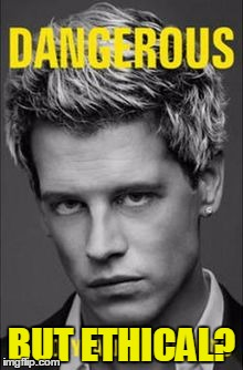 Dangerous But Ethical? Meme of Milo book