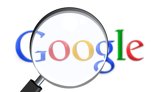 Google logo with magnifying glass