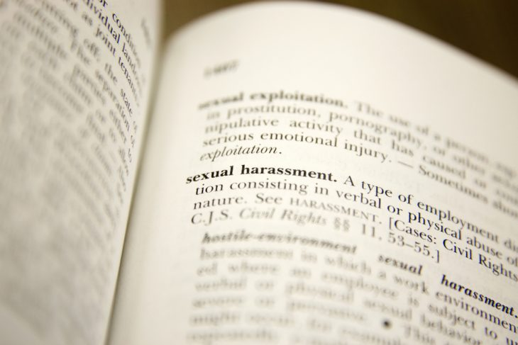 Dictionary entry for sexual harassment