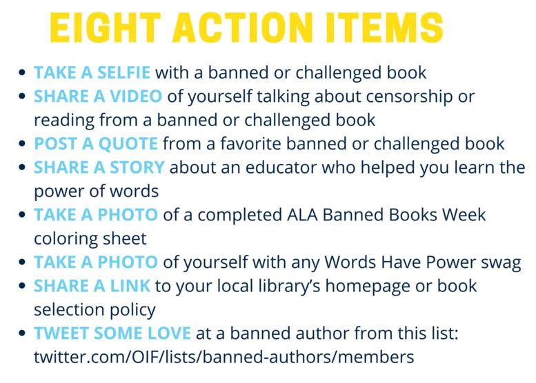 8 Action Items - Rebel Reader Twitter Tournament