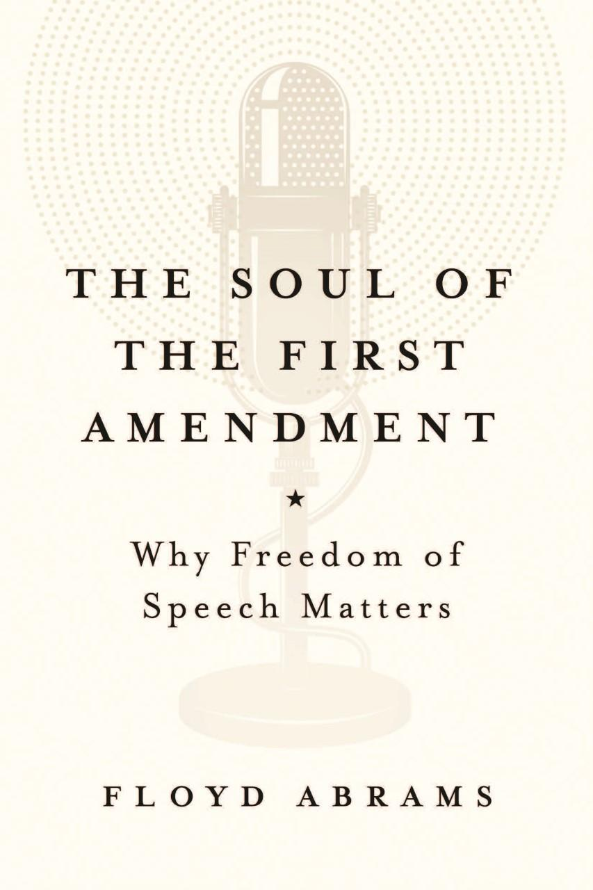 Book Review The Soul Of The First Amendment  Intellectual Freedom Blog Book Cover For Soul Of The First Amendment