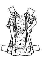 Black and white paper doll dress