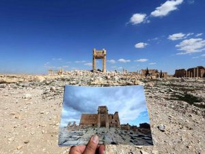 What remains of the historic Temple of Bel, dating back to 32AD. Joseph Eid, Getty Images. From The Independent.