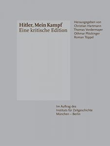 The recent German edition of Mein Kampf, printed without Hitler's image.