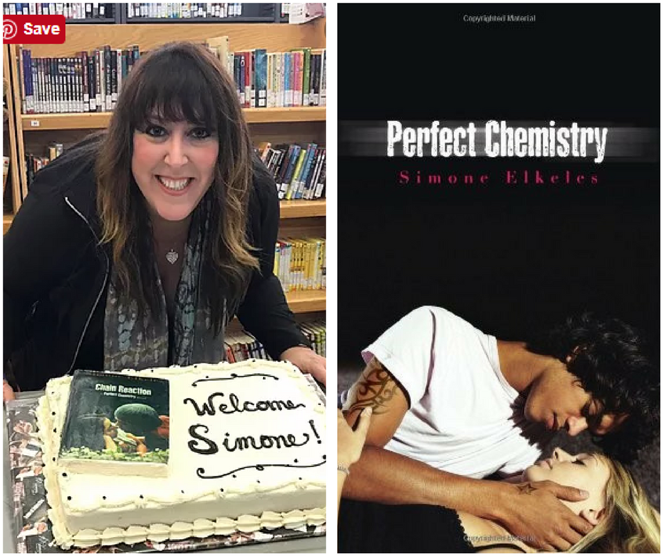 Simone Elkeles and the cover of Perfect Chemistry