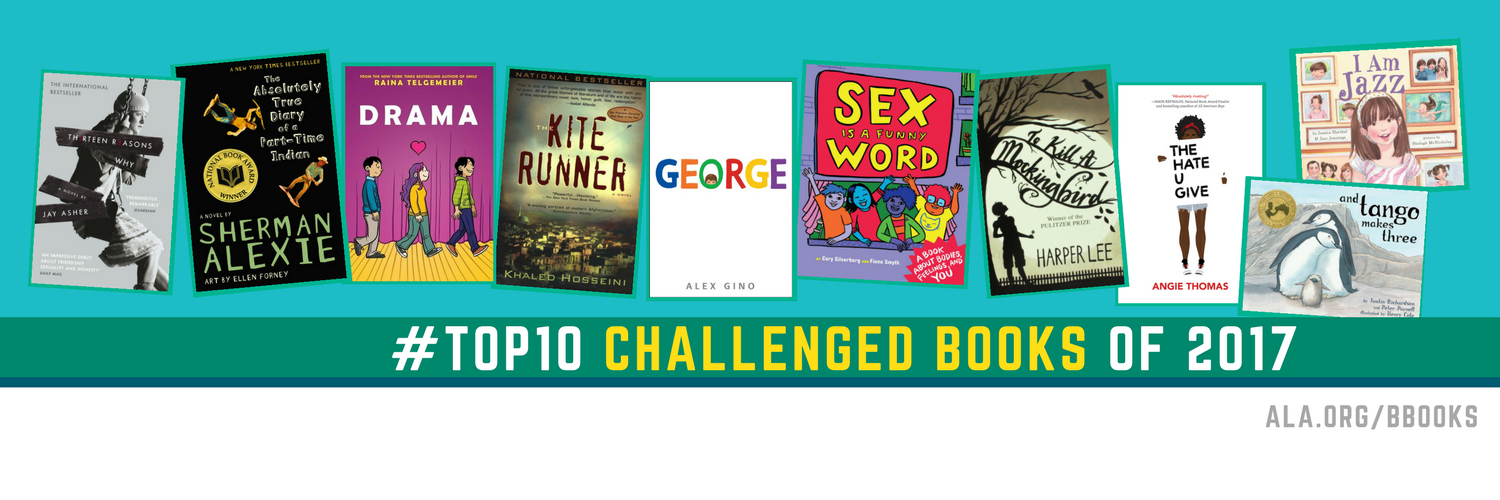 top 10 most challenged books of 2017 resources amp graphics