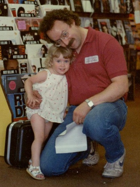 The author with her father, Bill Robbins, circa 1988-89.