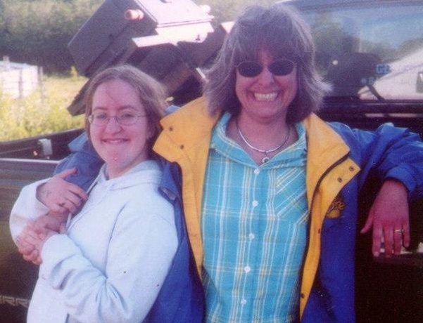 The author and her mother, Jan Robbins, circa 2004.