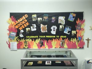 example of a Banned Books Week display