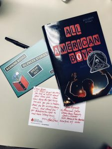 Postcard to Jason Reynolds, author of All American Boys
