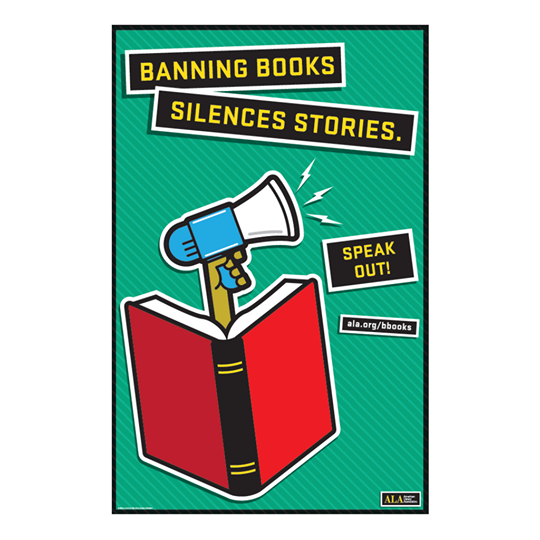 Banning Books Silences Stories poster