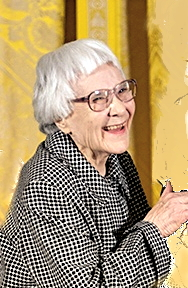 Mockingbird author Harper Lee at the Medal of Freedom ceremony at the White House. From Wikimedia Commons