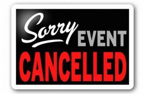 Sorry Event Cancelled