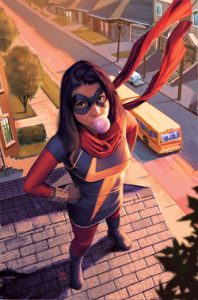 Ms. Marvel promotional art by Jorge Molina picture from: https://en.wikipedia.org/wiki/Ms._Marvel_(Kamala_Khan)