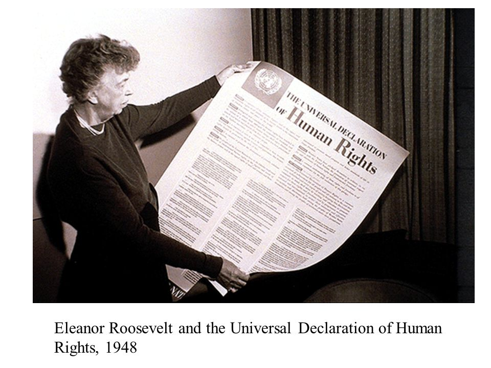 Universal Declaration of Human Rights Eleanor Roosevelt 1948