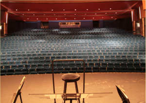 vacant stage, auditorium