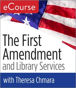 "Logo for ""First Amendment and Library Services"" ALA e-course"