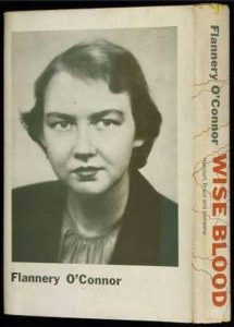The dust-jacket photo of O'Connor's 1952 debut novel, Wise Blood