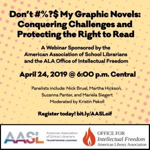 AASL School Library Month FREE Webinar graphic novels