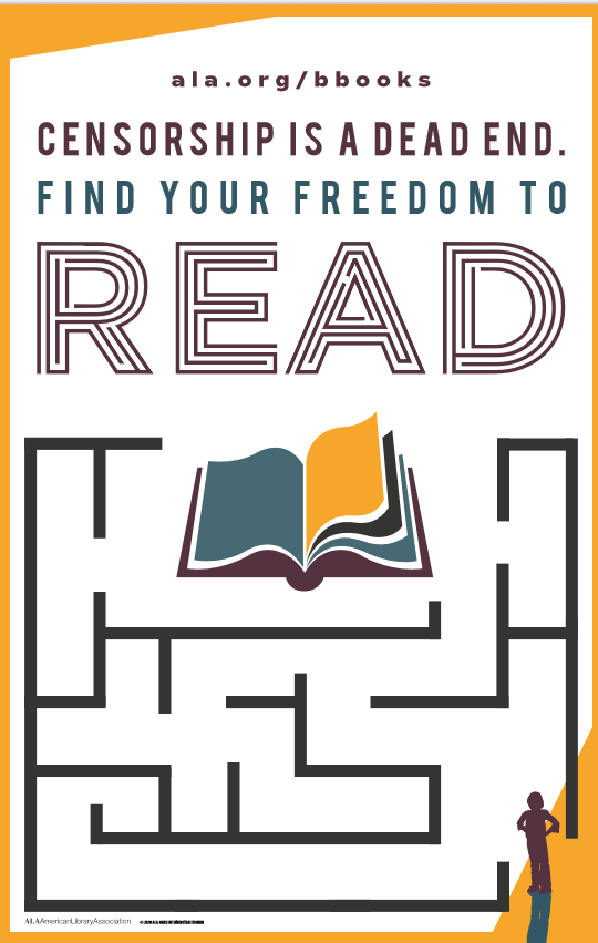 ALA Banned Books Week Find Your Freedom to Read Poster